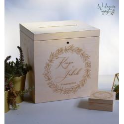 Pudełko na koperty z grawerem
