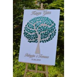 Księga gości drzewko ombre
